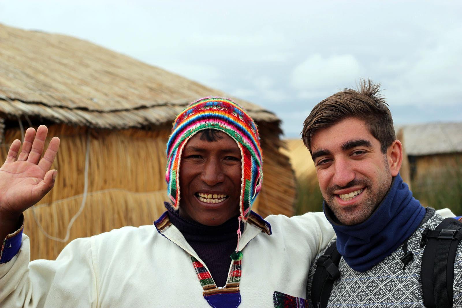 Meeting the locals in Peru