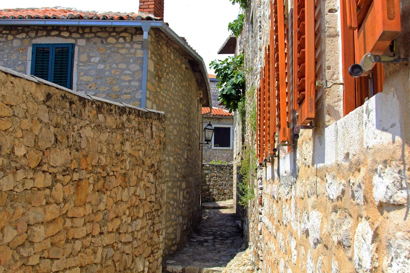Like most towns along the coast of Montenegro, there is an Old Town with cobbled stones and small side streets