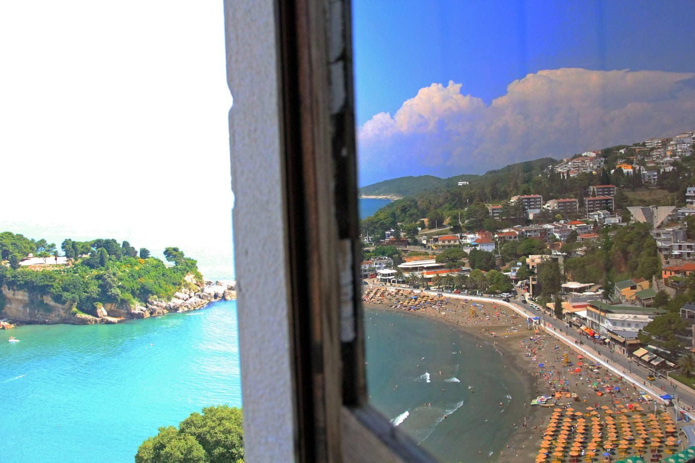 The view from the museum in Ulcinj