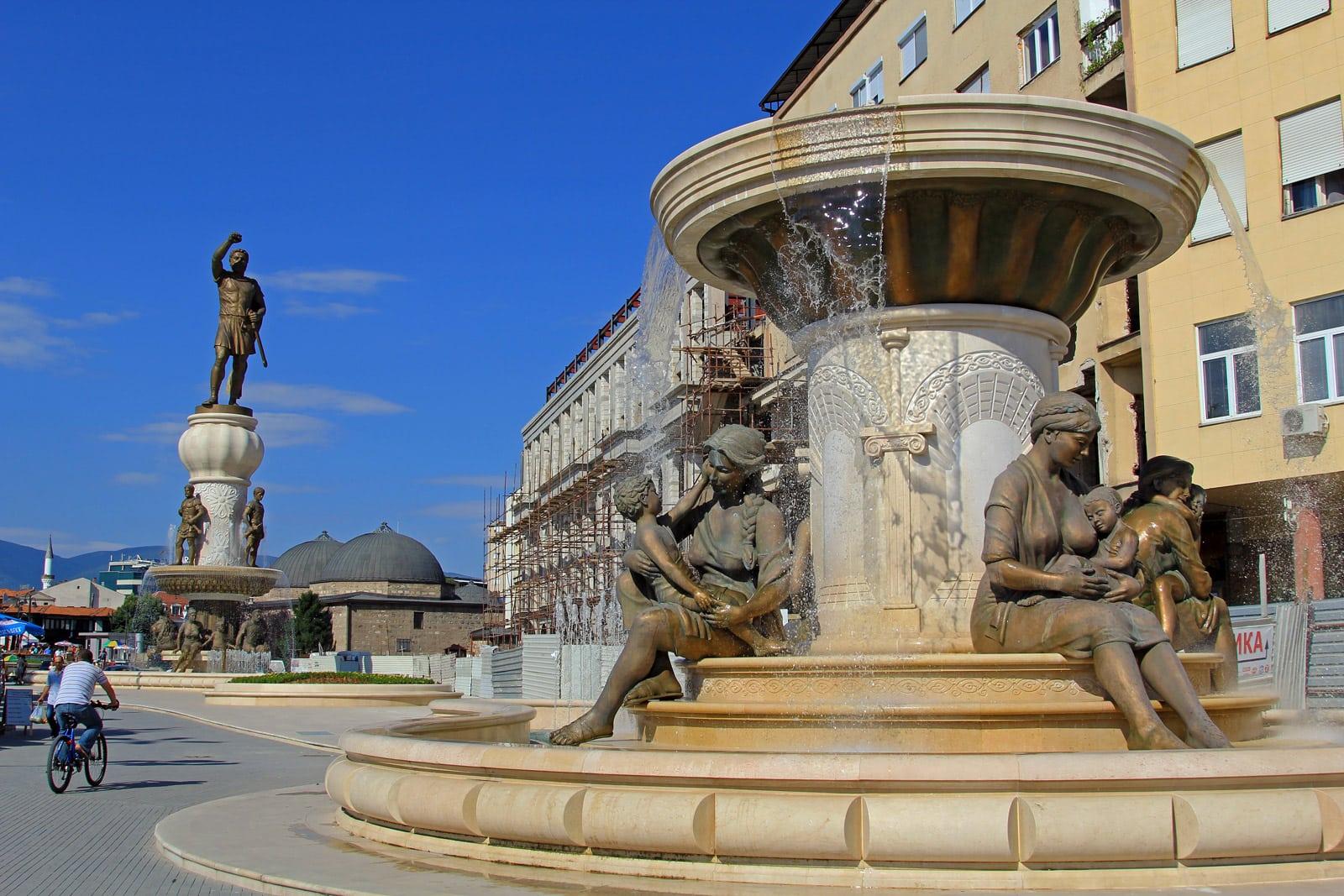 The statues of Skopje