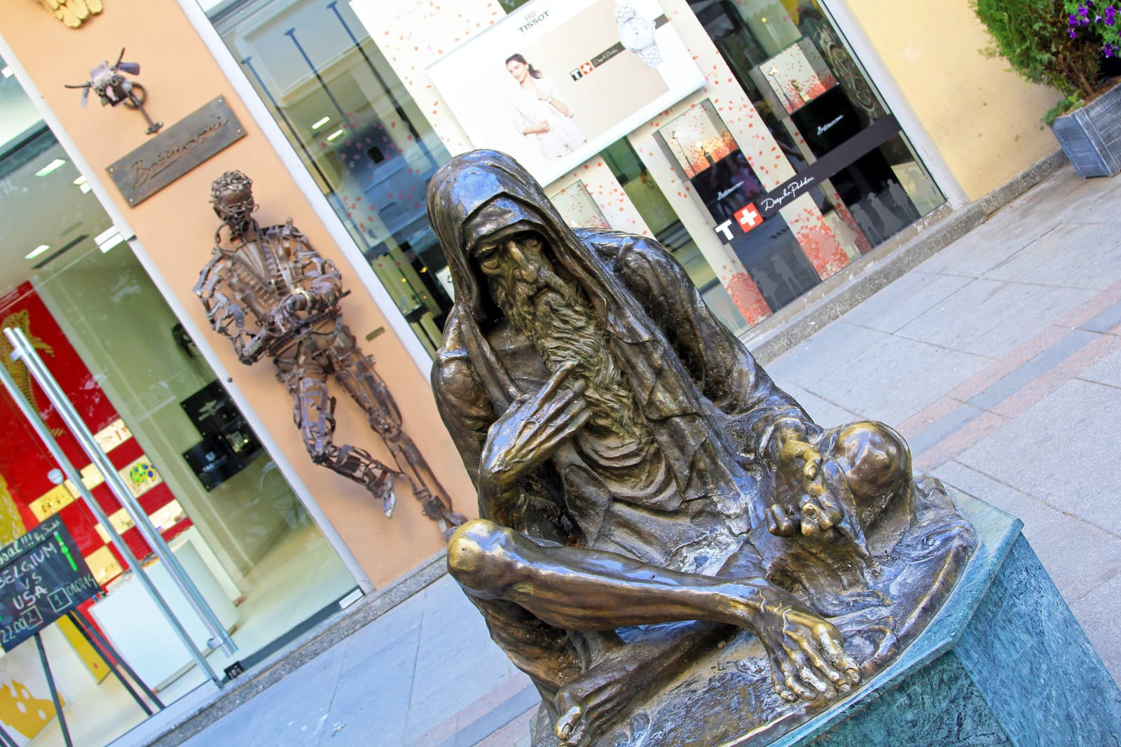 Some of the statues are pretty strange