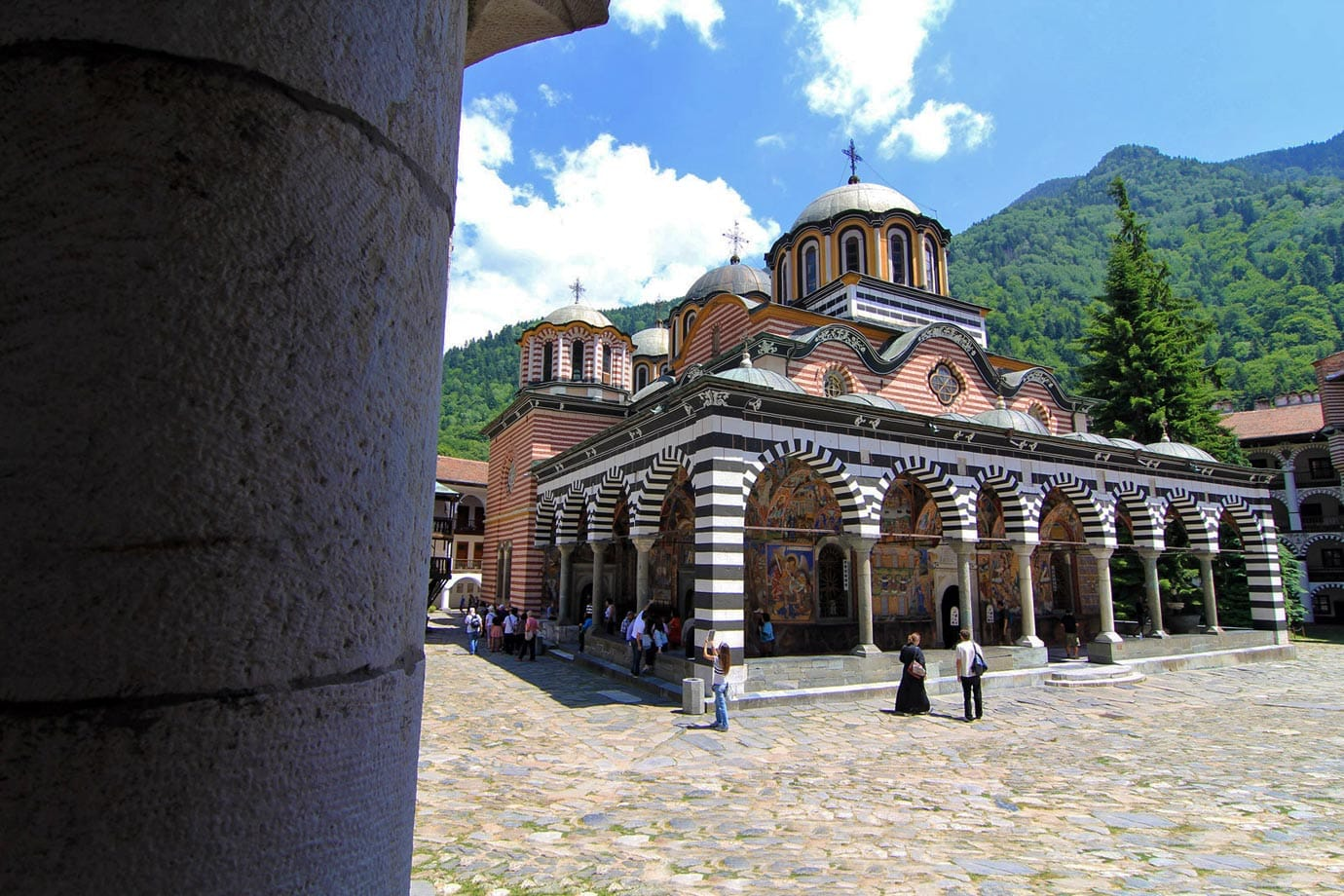Rila Monastery is largest and most famous Eastern Orthodox monastery in Bulgaria