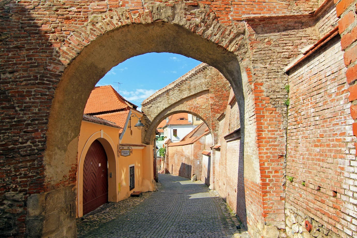 Walking the cobbled streets of Sibiu