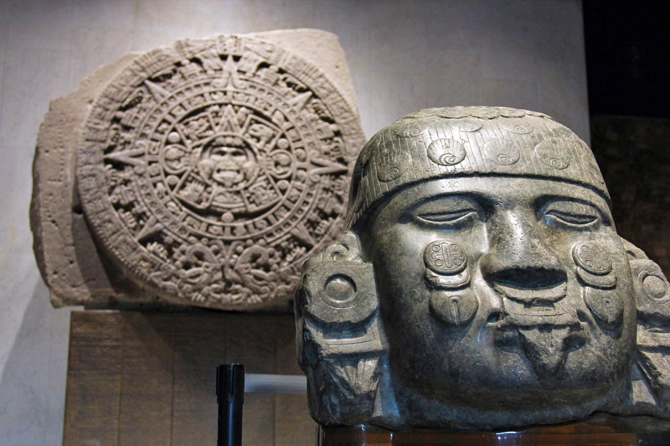 This is the Stone of the Sun, otherwise known as the Aztec Calendar Stone