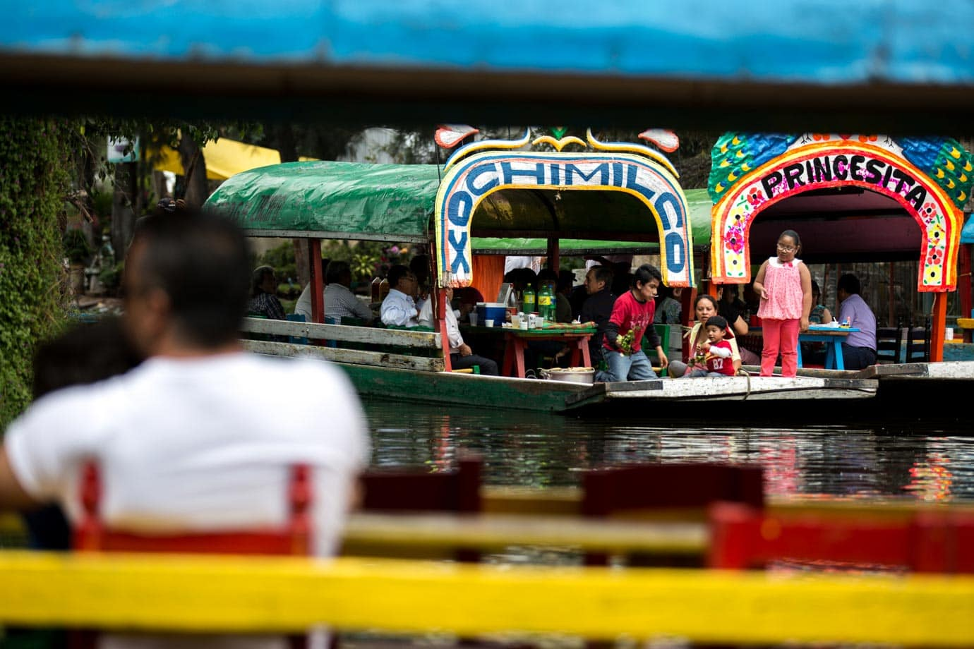 Xochimilco is a town made up of canals an hour's south of Mexico City