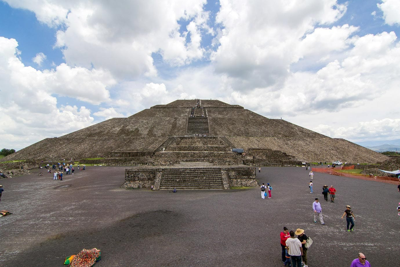 The Pyramid of the Sun is the largest and most impressive in Teotihuacan and it is the third largest pyramid in the world