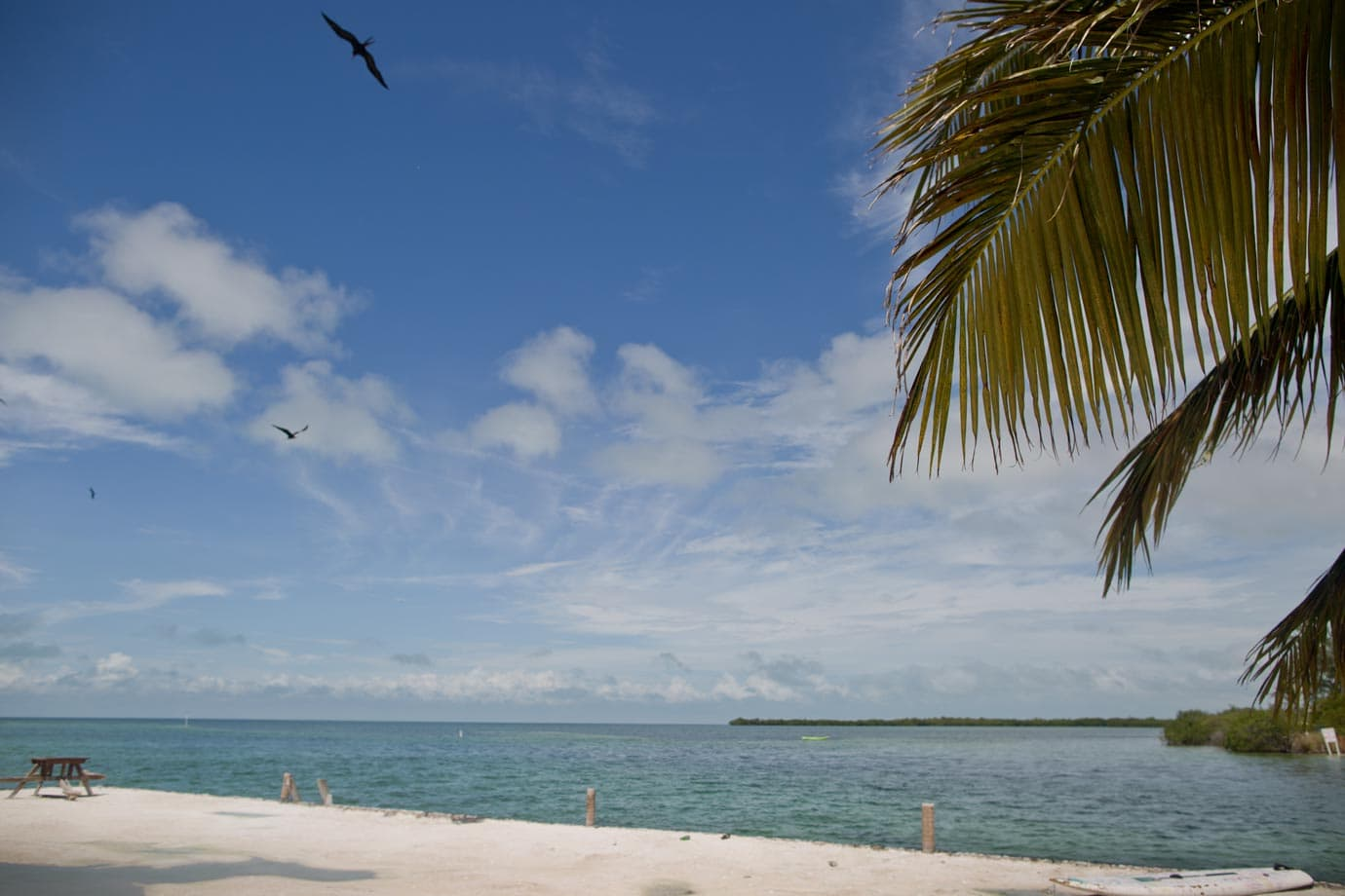 The water is never far away on Caye Caulker