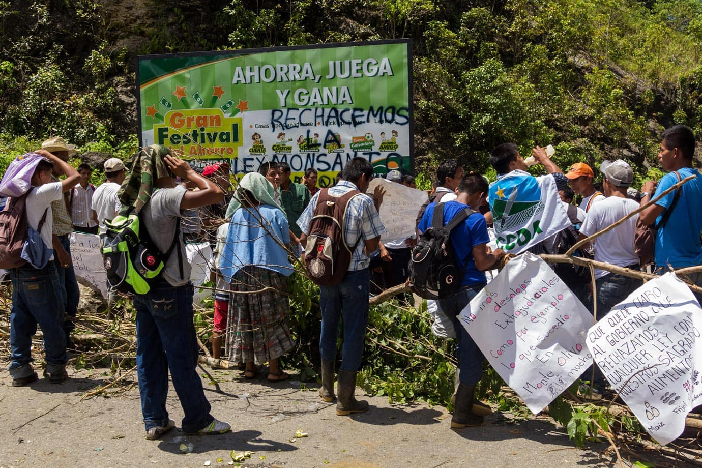 Protests over the price of maize seeds were going on throughout Guatemala