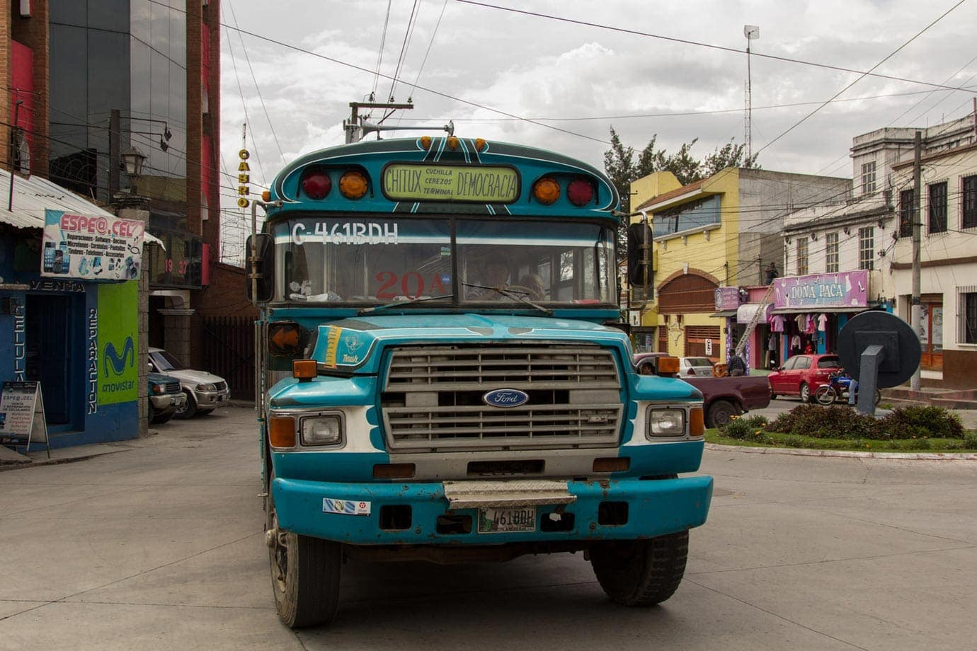 A signature of chicken buses is their often colourful paint jobs - ©Macca Sherifi
