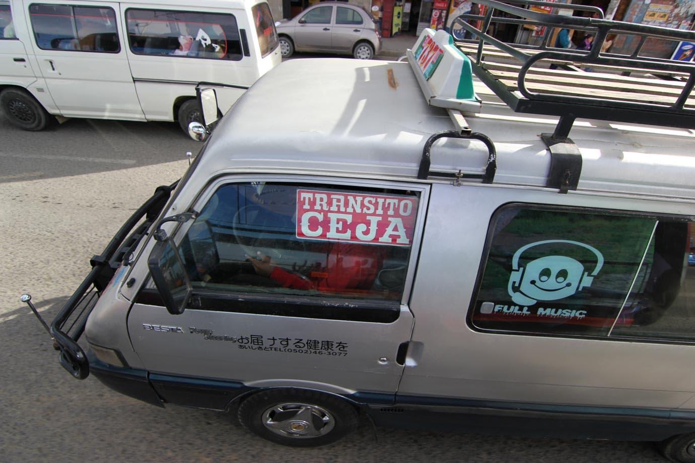 Tourist buses are actually 15 seat vans - ©Macca Sherifi