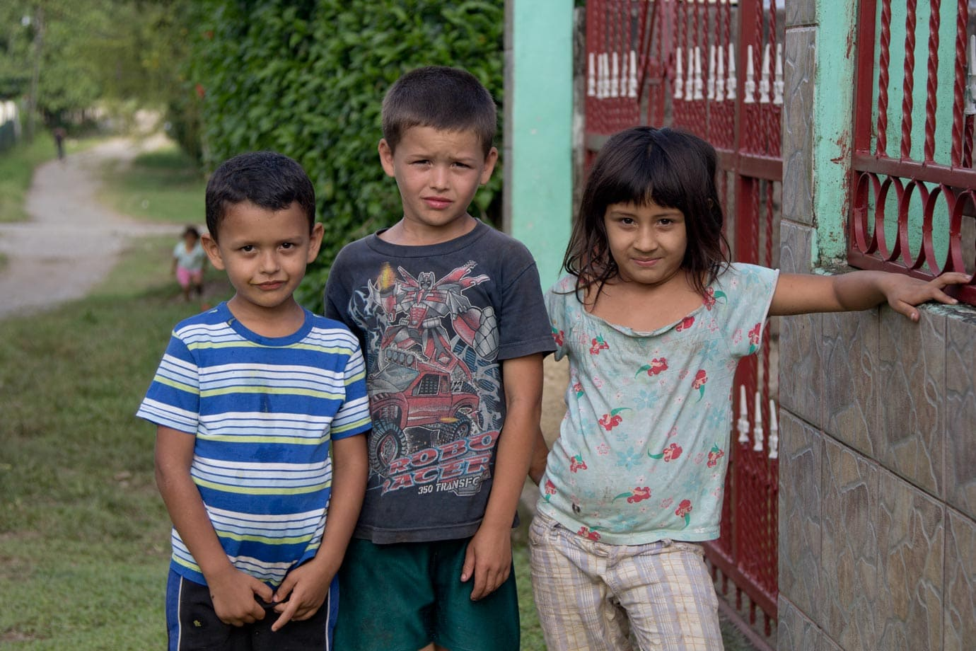 Some neighbourhood kids who were keen to be photographed