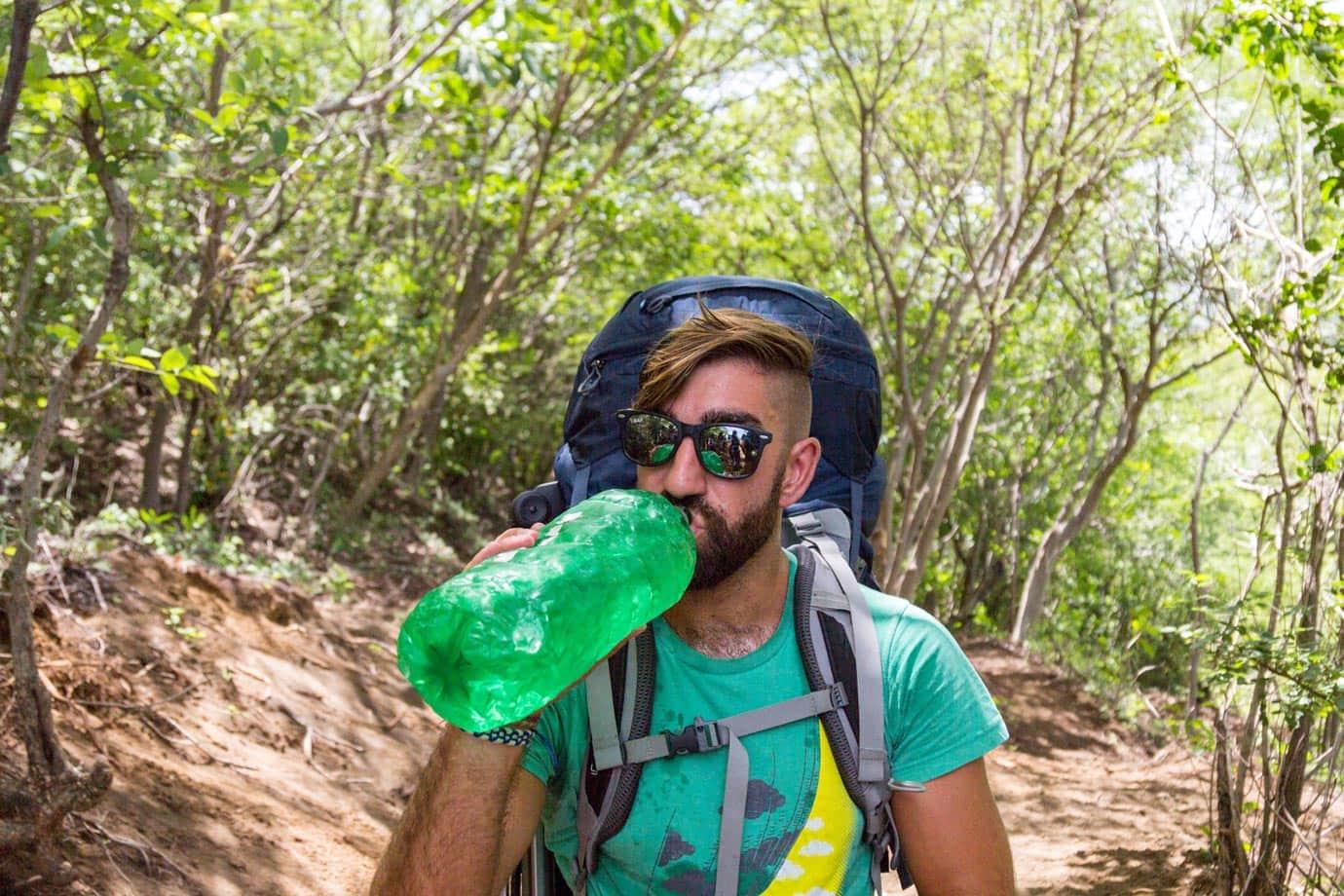 Hiking up Las Pilas