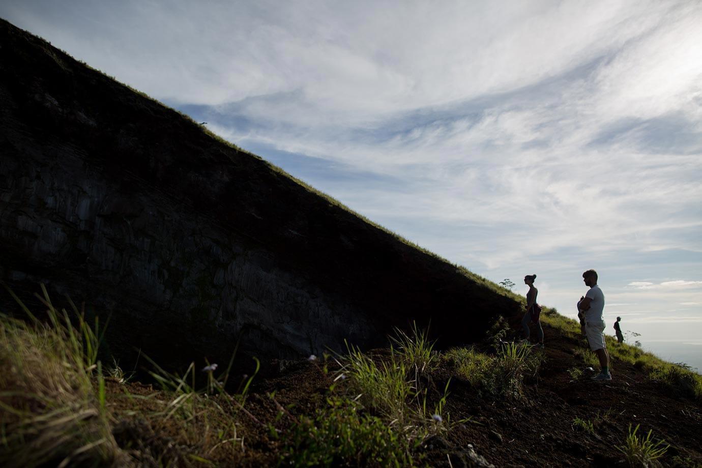 Standing by El Hoyo, Nicaragua