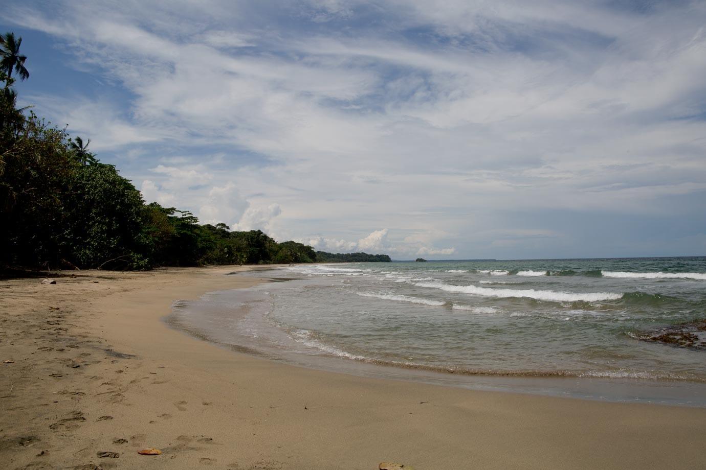 A quiet beach outside Puerto Viejo