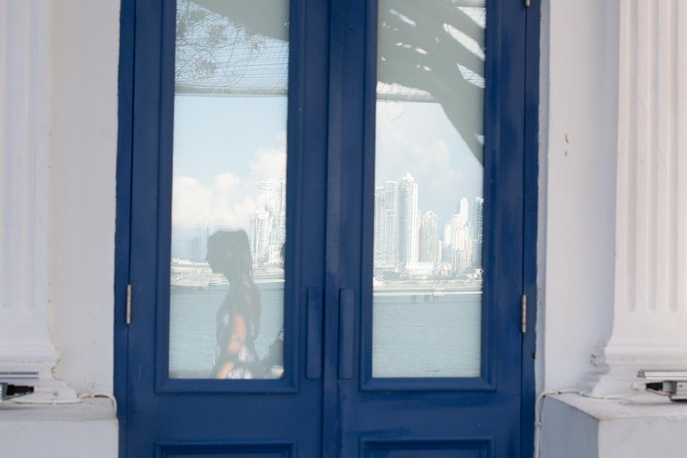Blue door Panama City