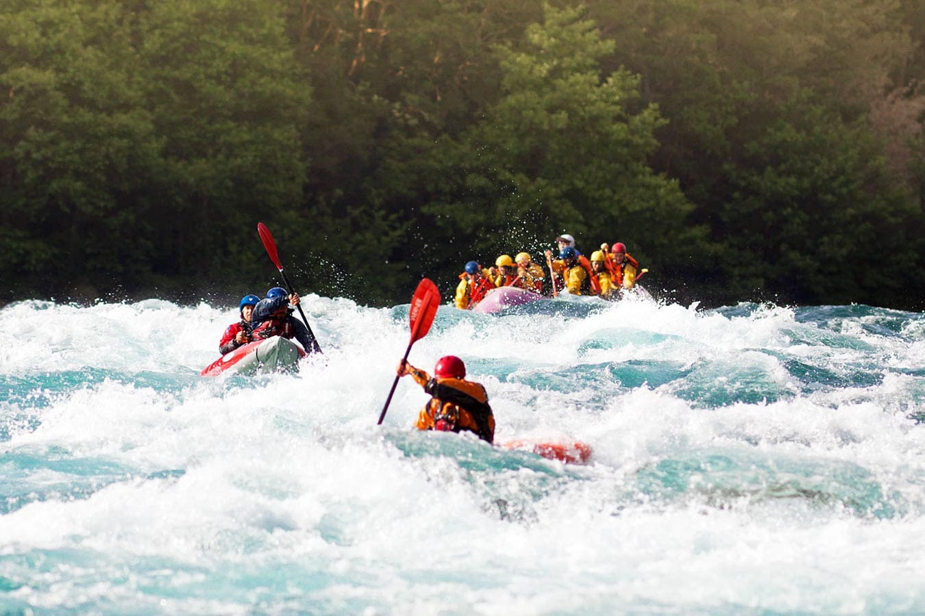 White water rafting on the Petrohue River