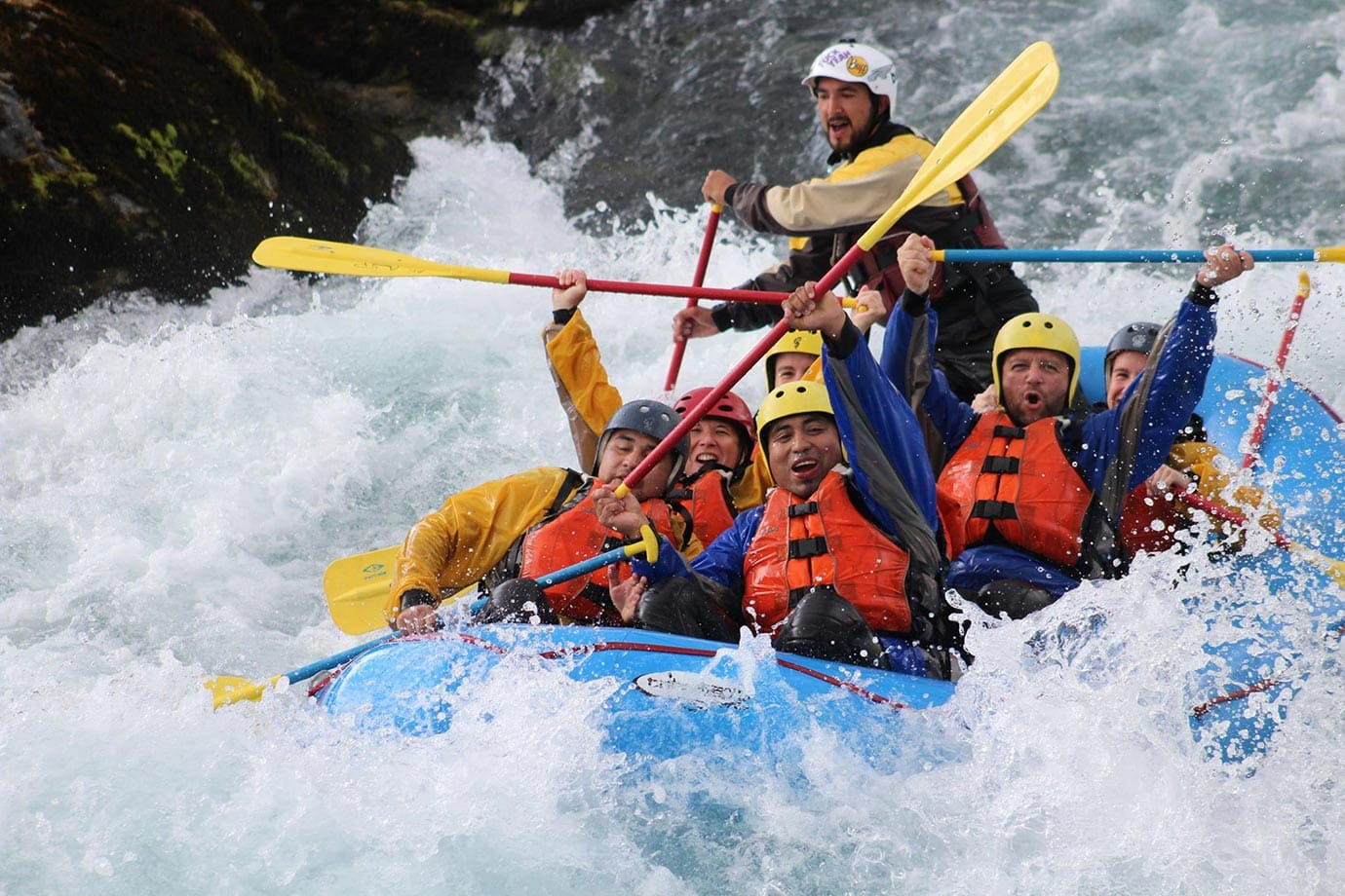White water rafting, Petrohue River, Chile