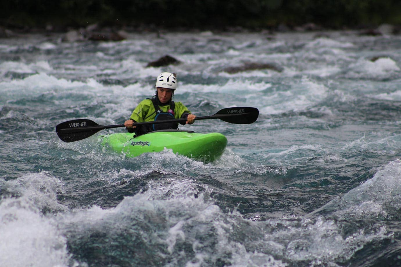 Kayakers on the Petrohue River