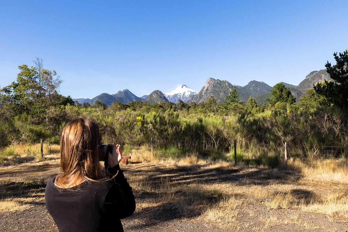 View of Volcano Villarrica