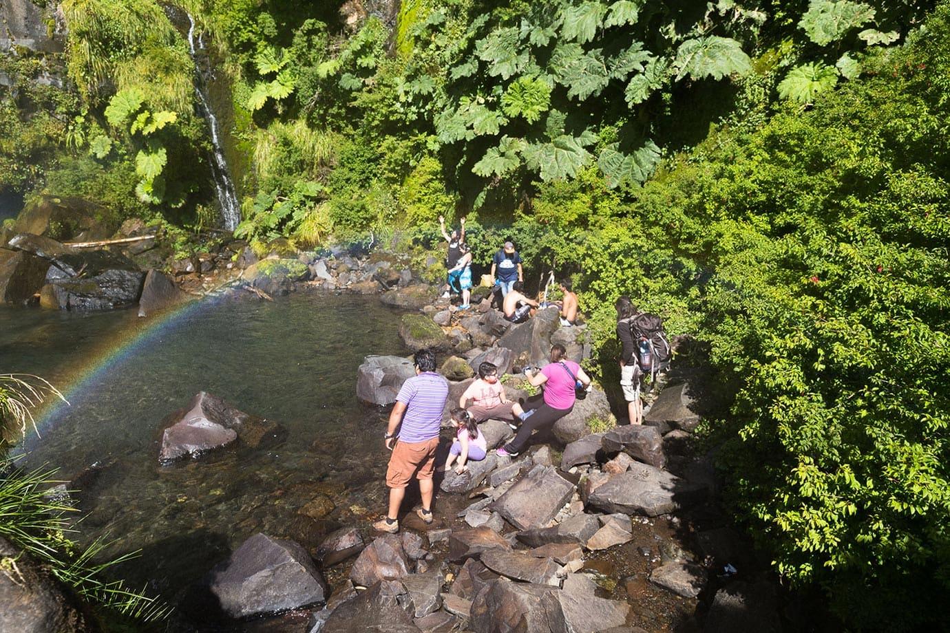 The rock pools at Salto el Leon