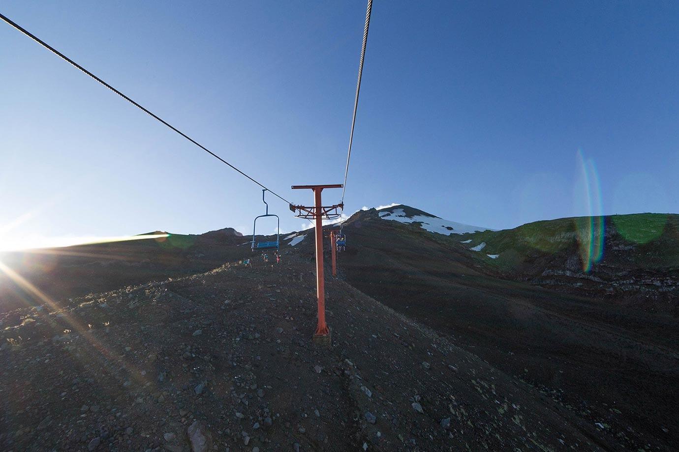 Chairlift at Volcano Villarrica