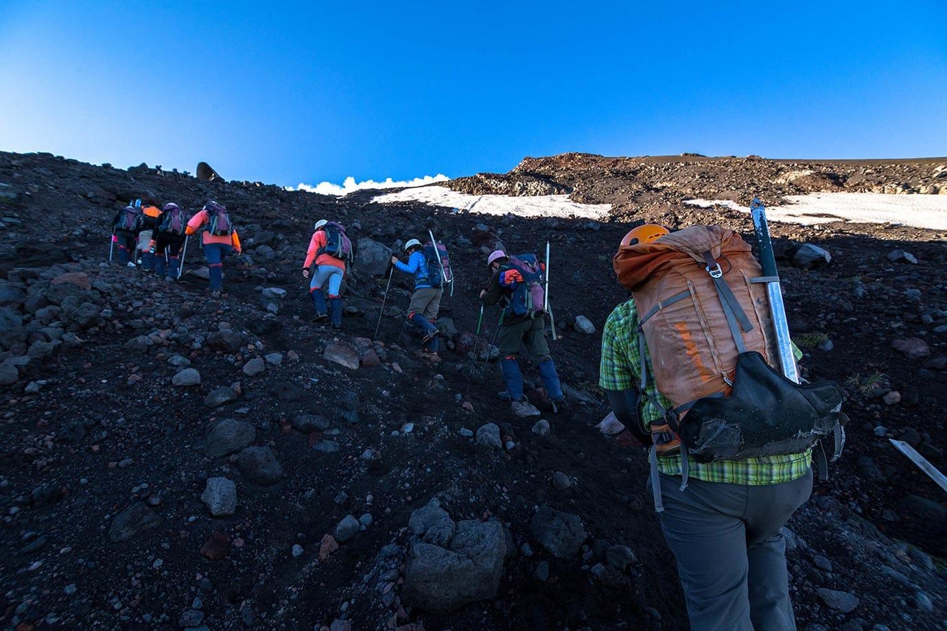 Hiking at Volcano Villarrica