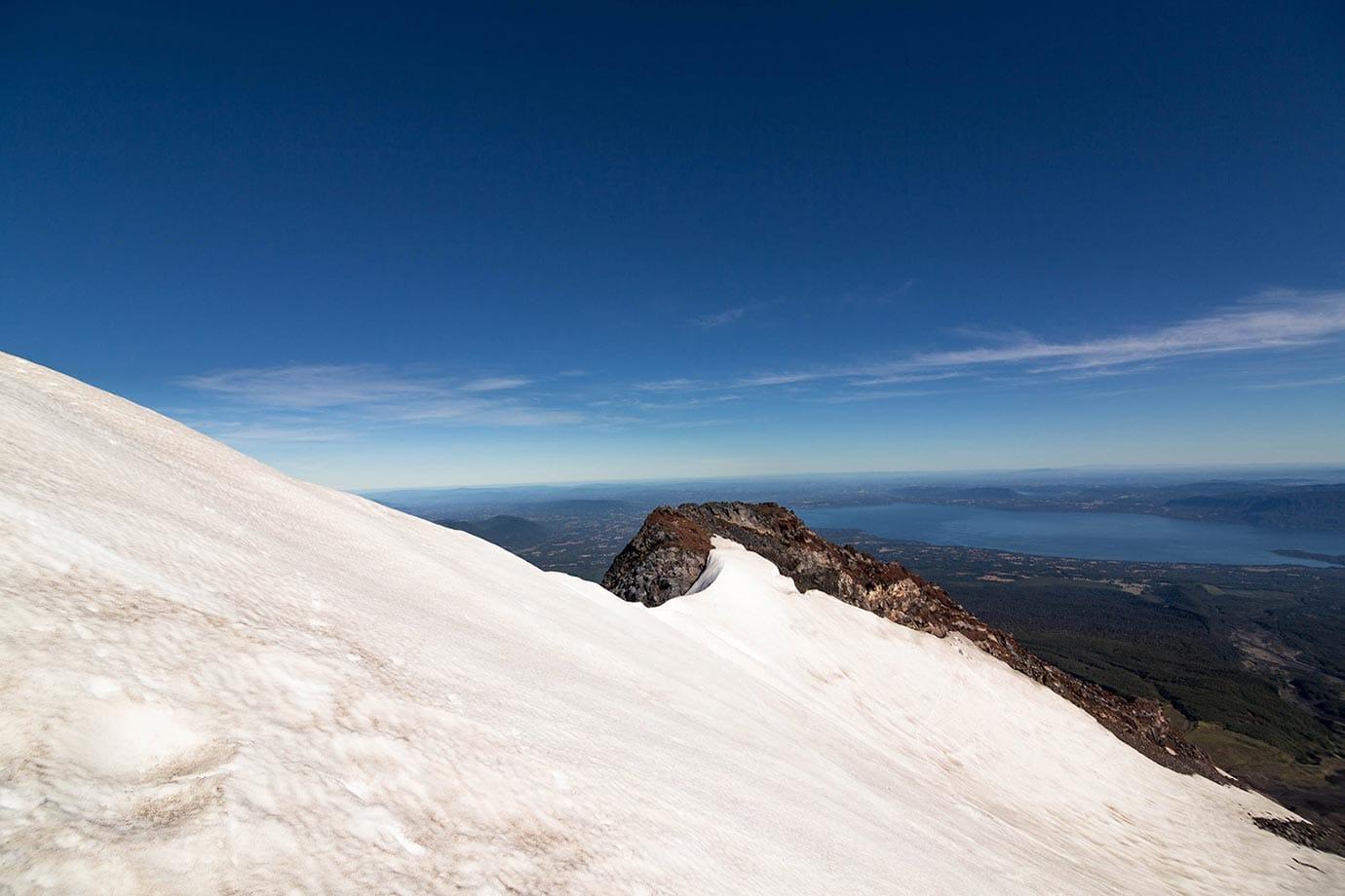 Glacier at Volcano Villarrica