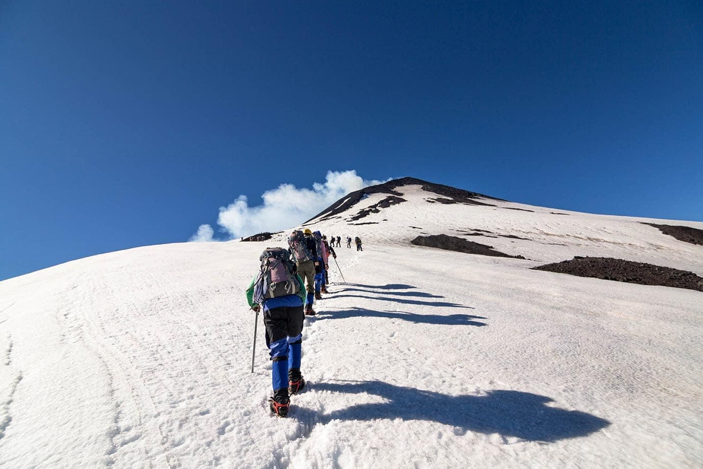 Hiking to the Top of Volcano Villarrica