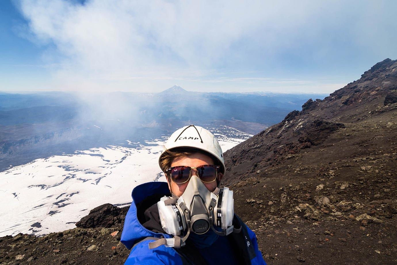 At the top of Volcano Villarrica