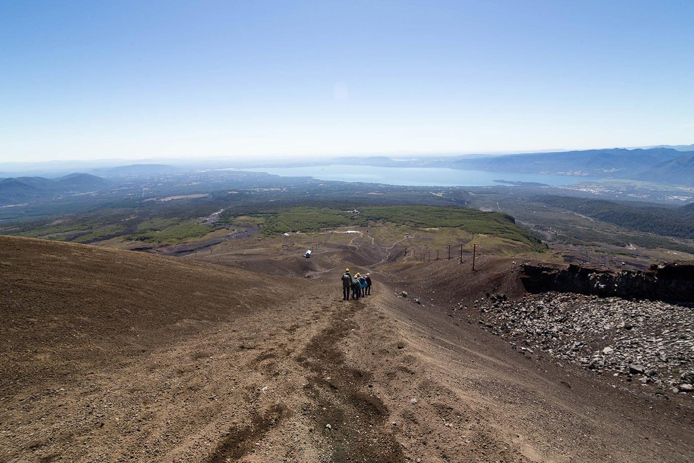 Climbing down Volcano Villarrica