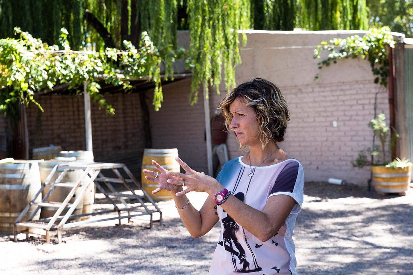 Wine tour at Bodega Lagarde