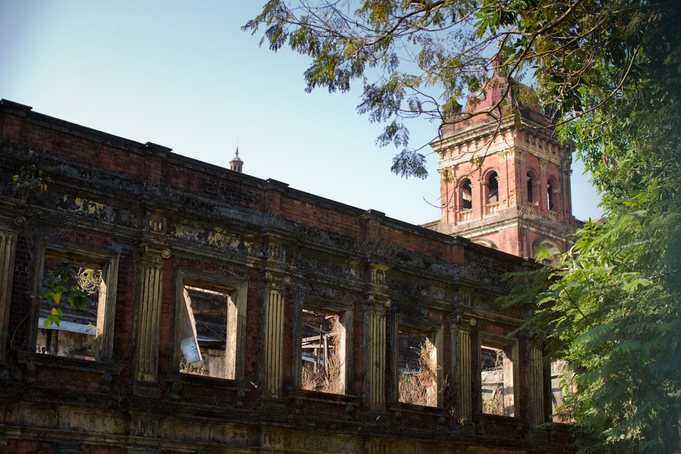 One of the crumbling structures found in Yangon - Brian Ceci
