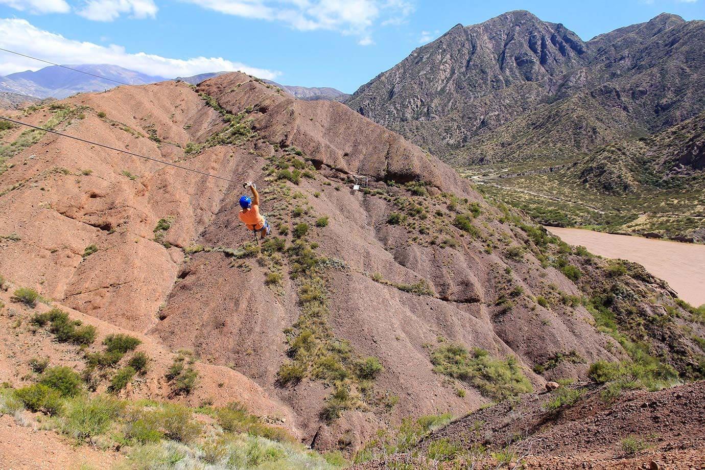 Ziplining with Argentina Rafting Expediciones