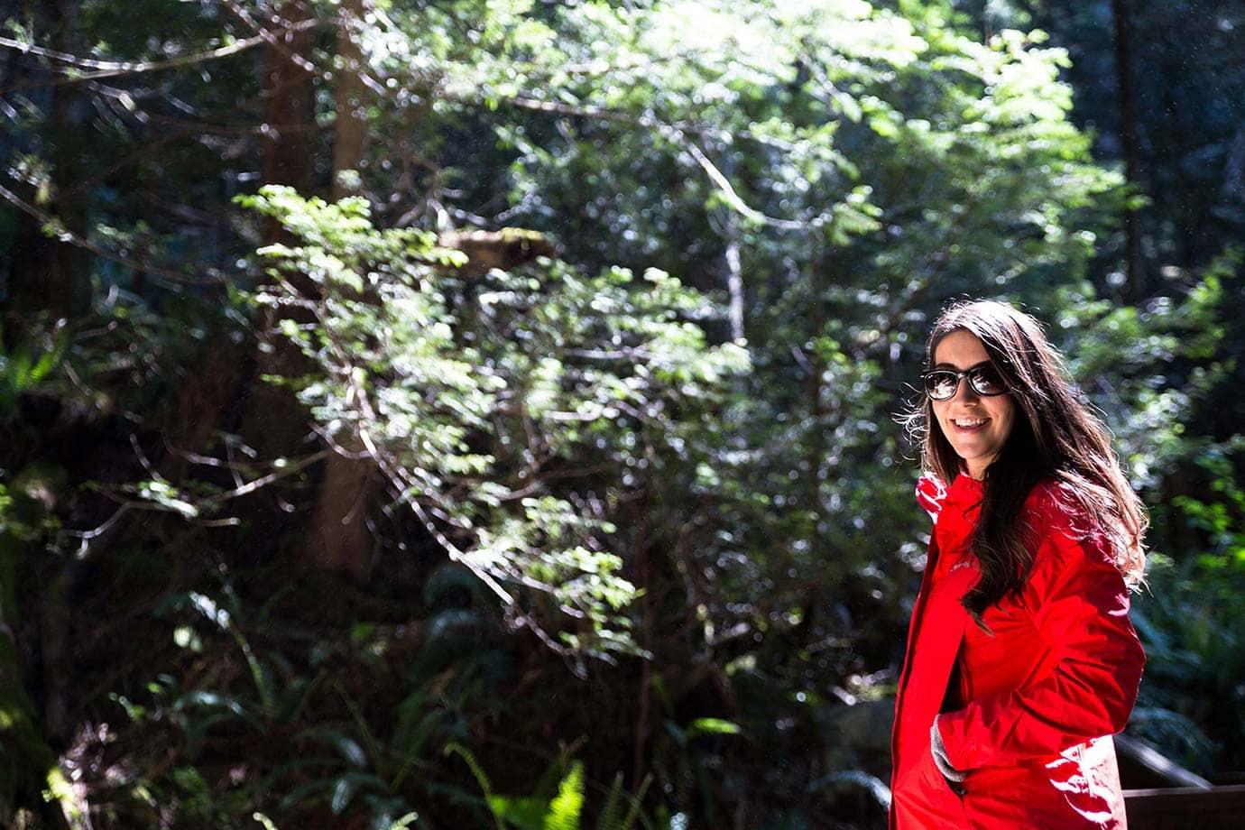 Hiking at Shannon Falls