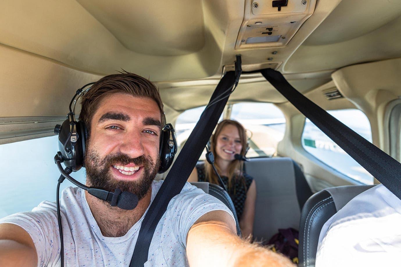 Macca Sherifi flying