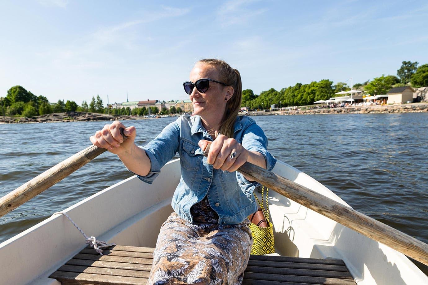 Rowing in Helsinki