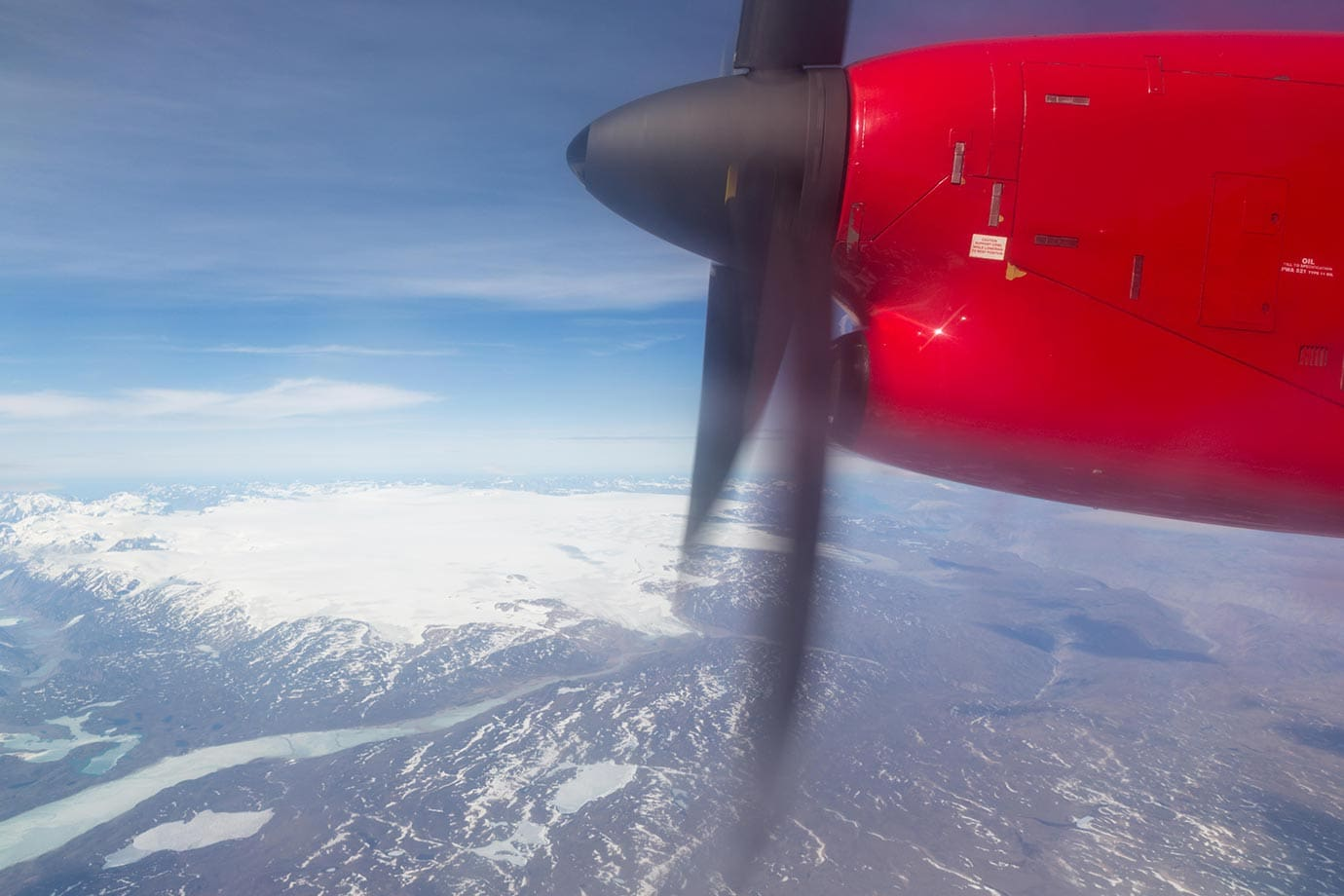 Flying to Nuuk