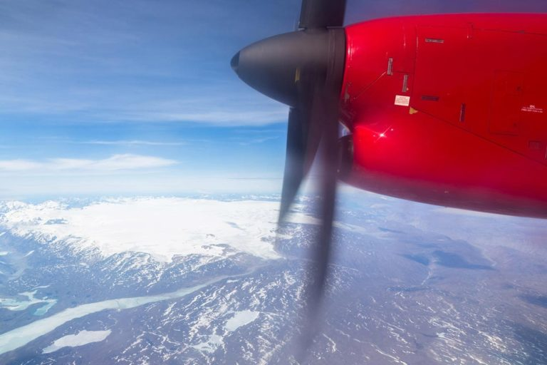 Flying to Greenland