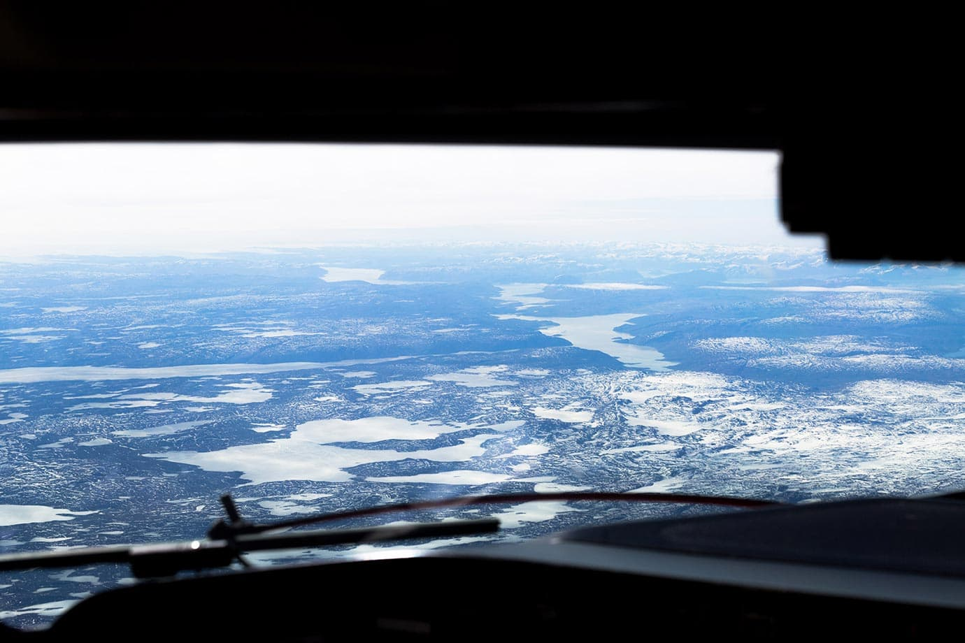Views of flying over Greenland