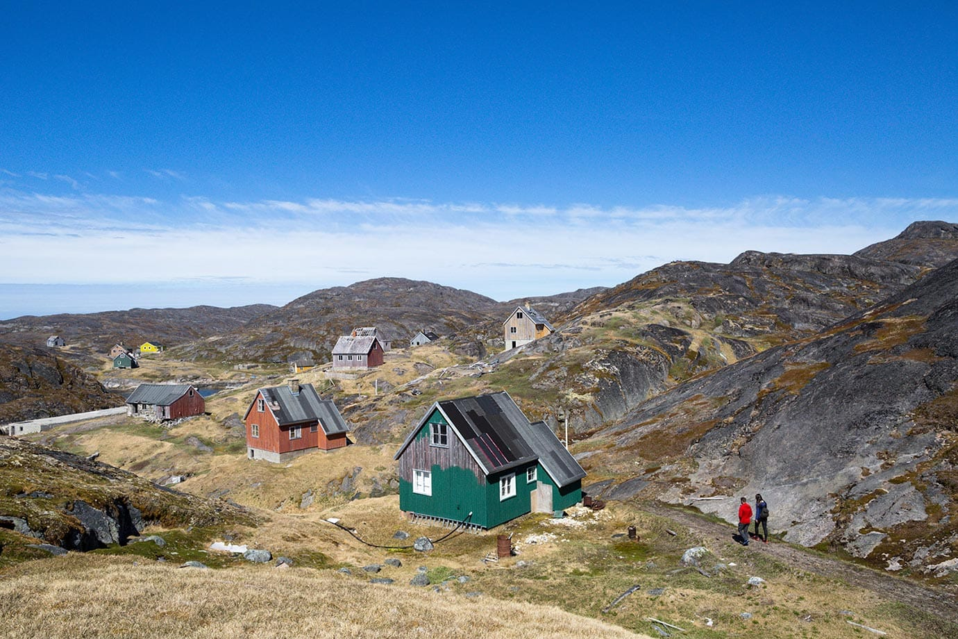 Kangeq outside of Nuuk Greenland, abandoned village