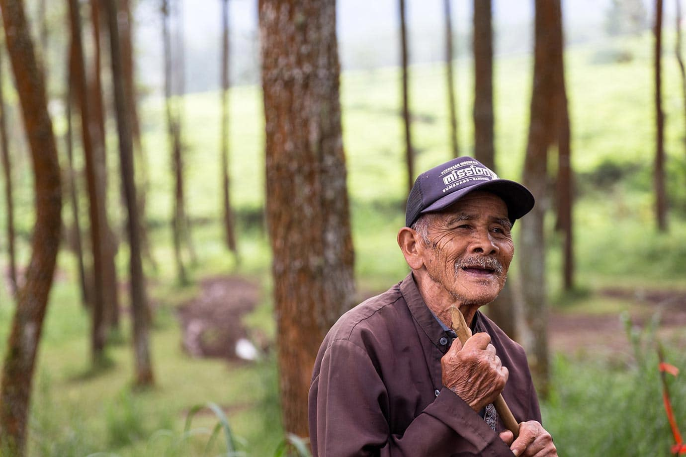 Man smiling in Bandung, Indonesia