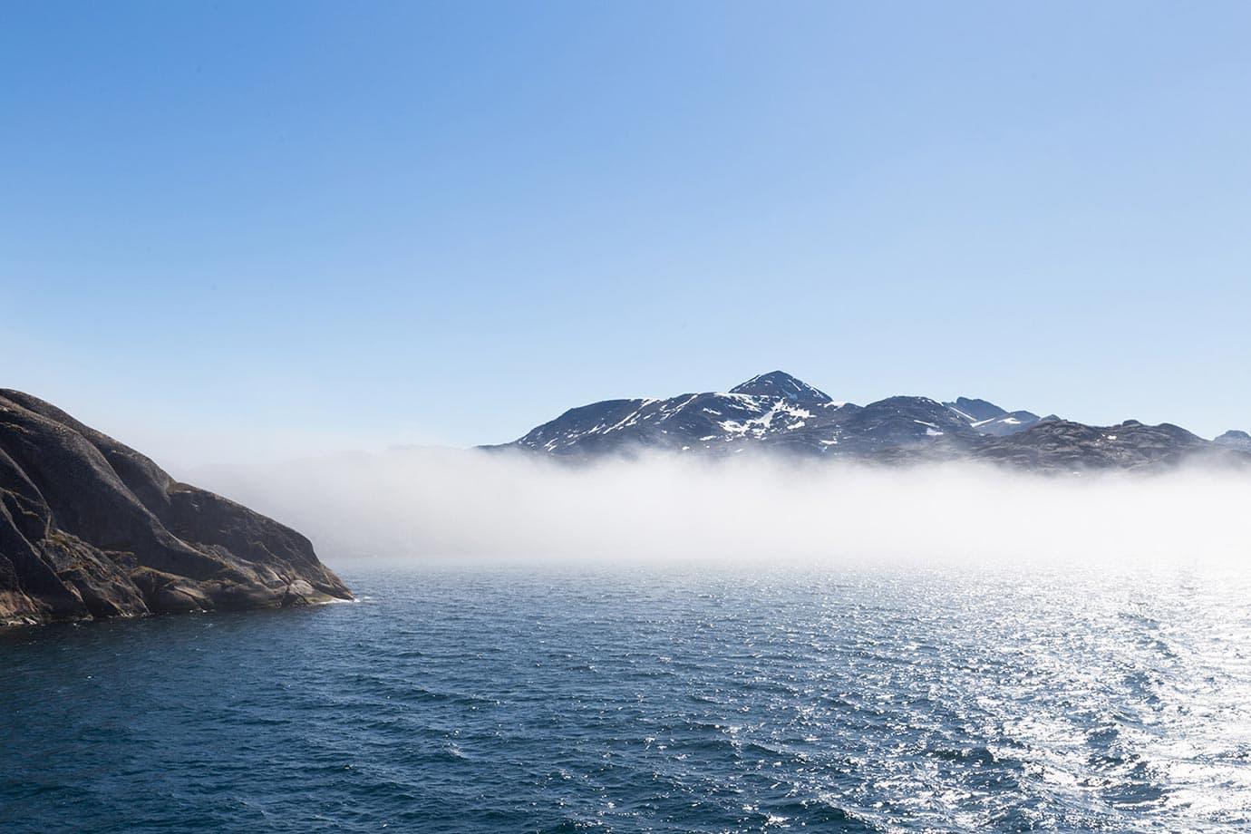 Fog in Greenland