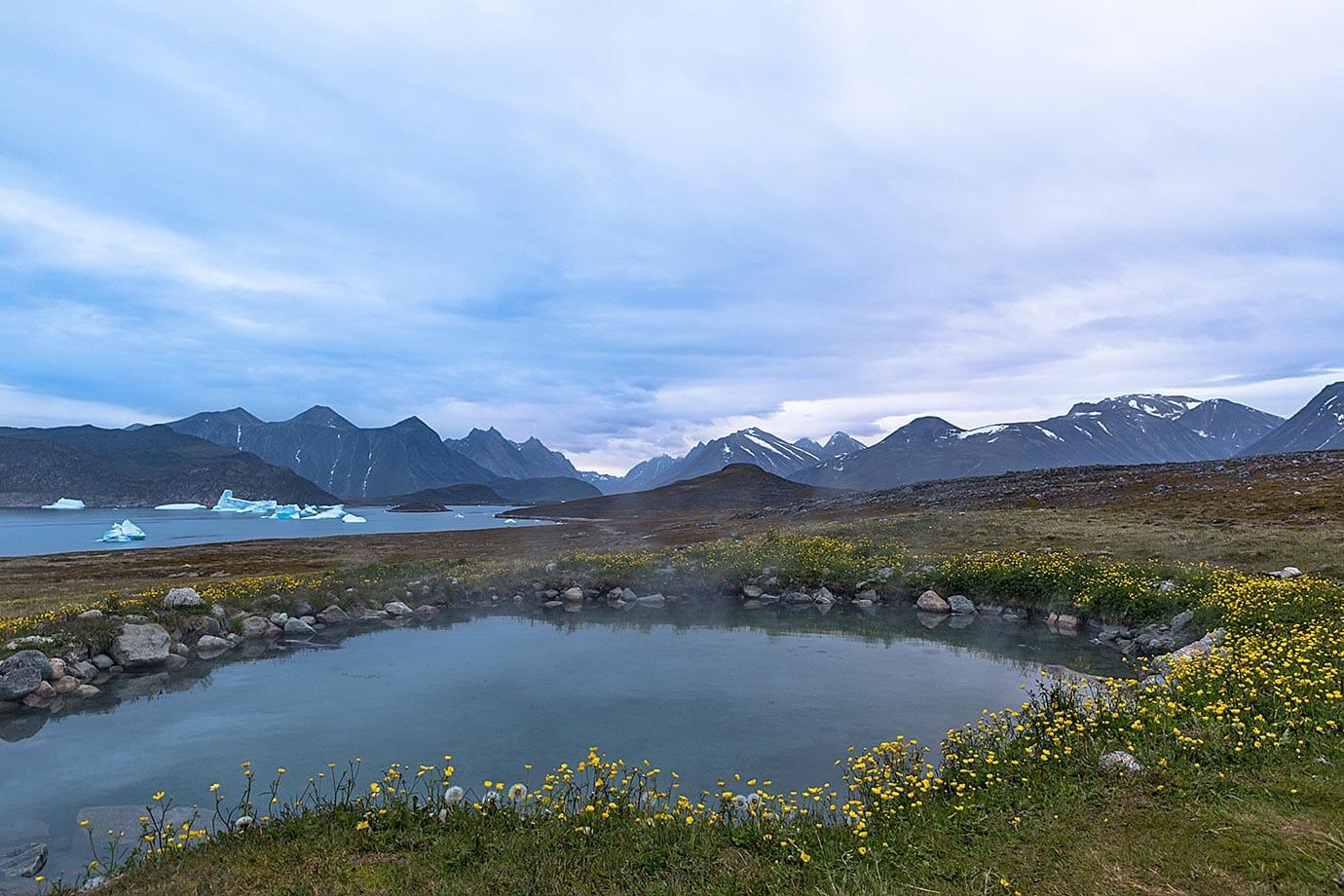 Uunartoq Hot Springs near Qaqortoq in Southern Greenland