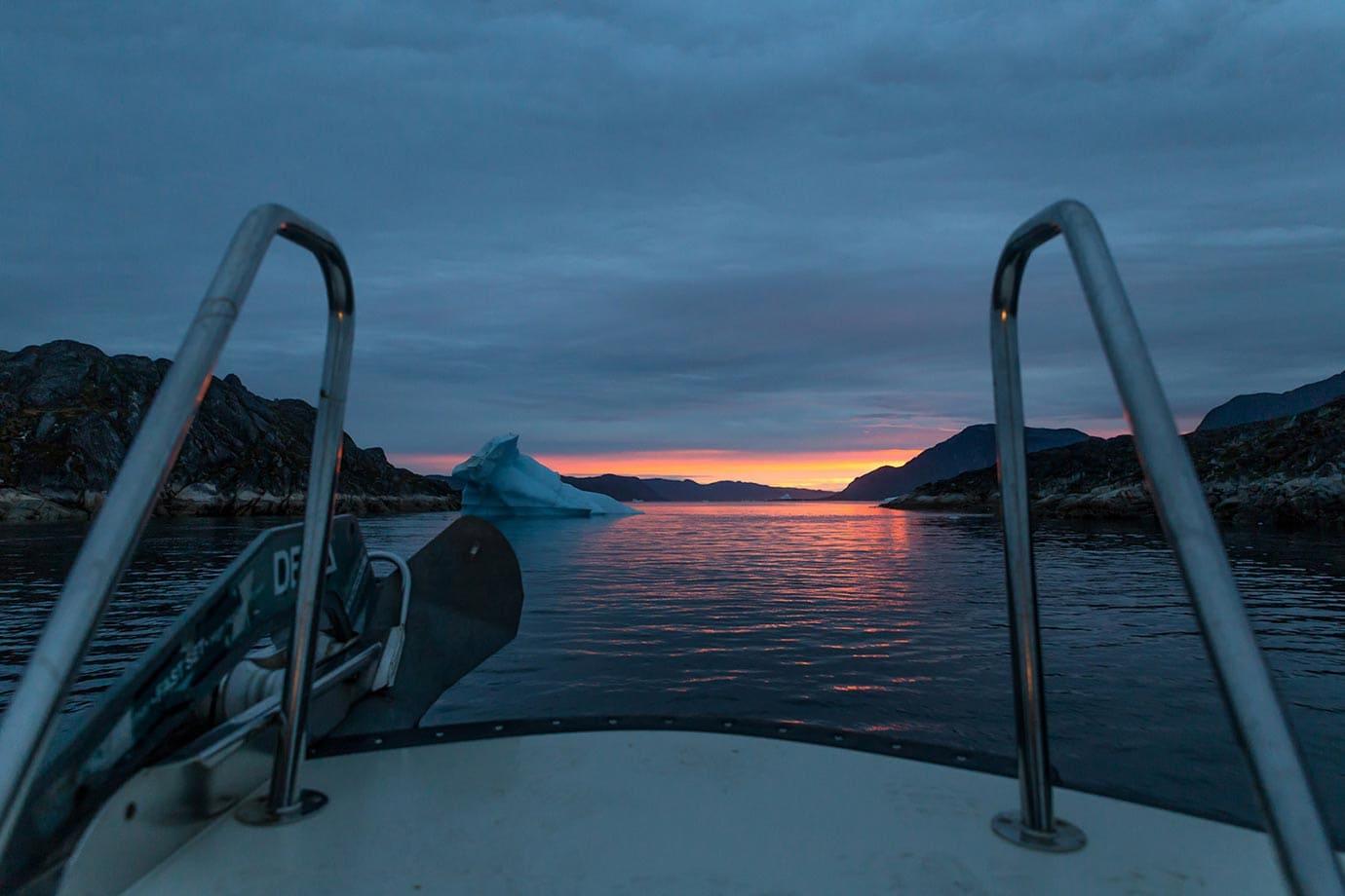 Sunset in Qaqortoq