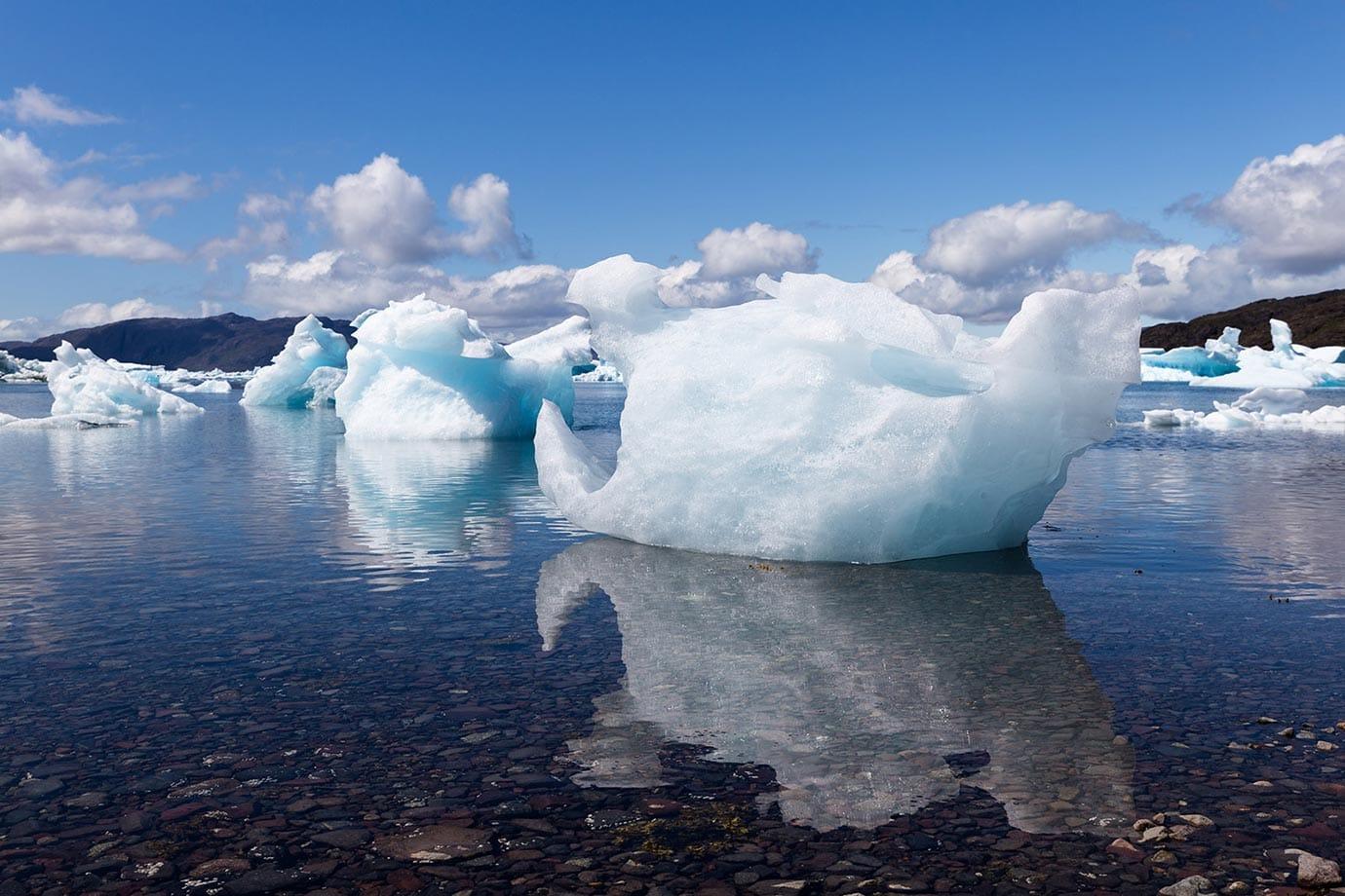 Iceberg beach in Narsaq Southern Greenland