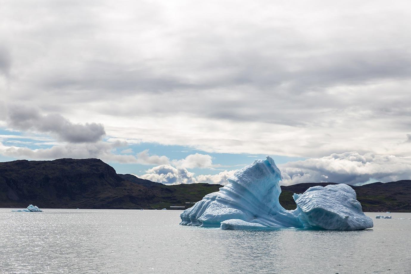 Icebergs near Narsaq and Narsarsuaq in Southern Greenland