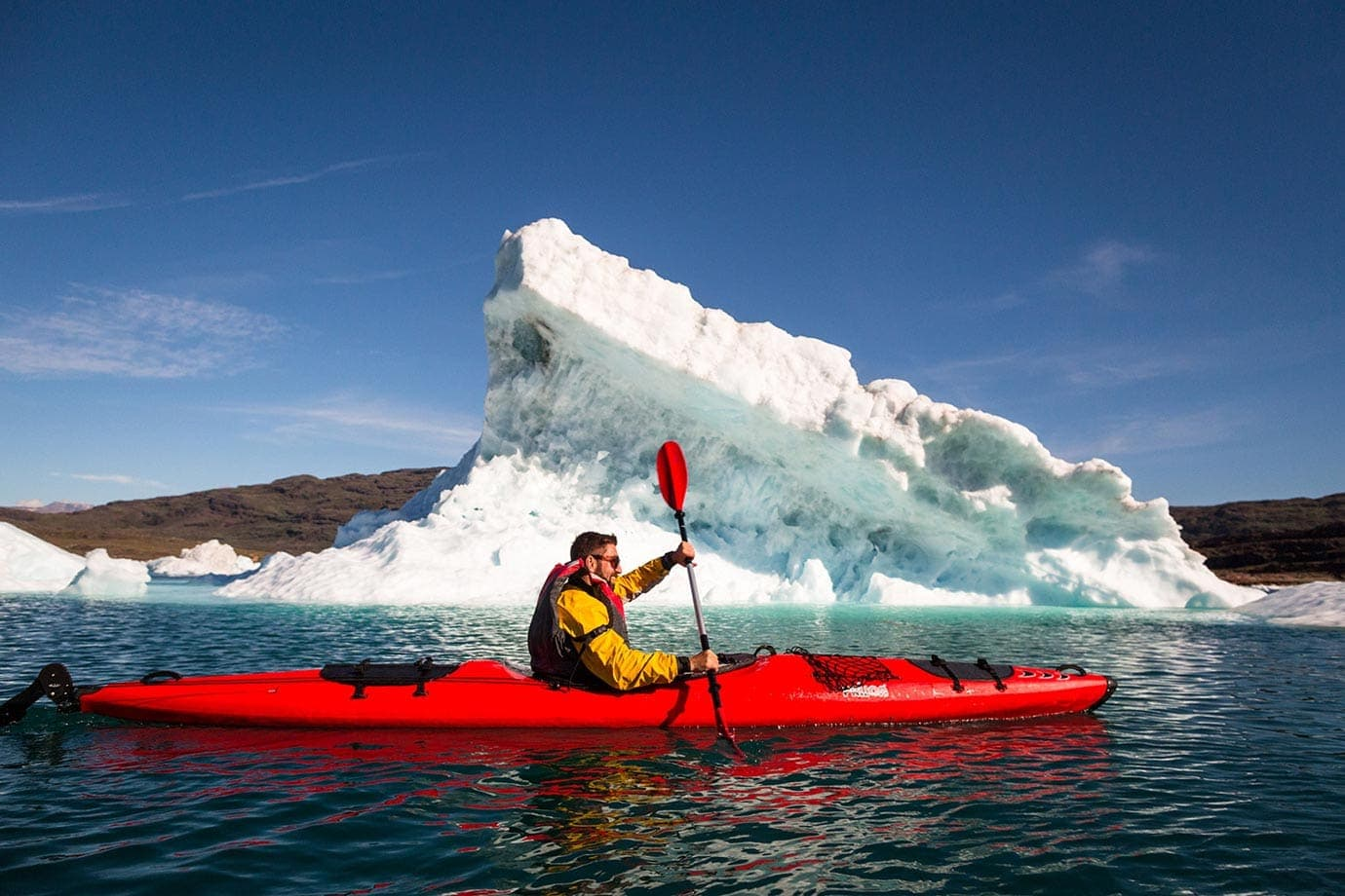 Kayaking with Icebergs in Greenland