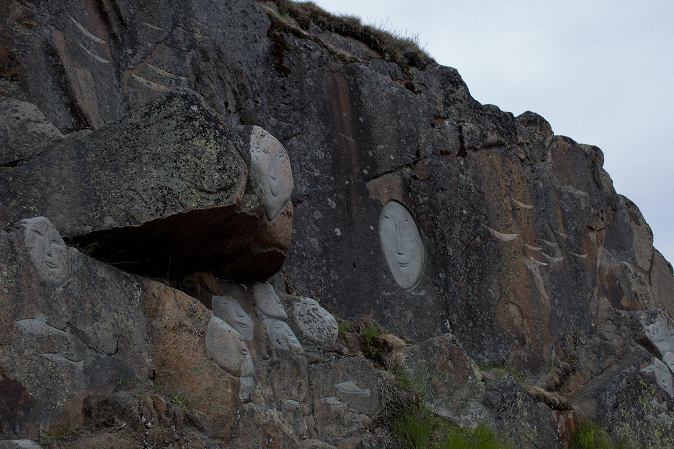 Stone & Man art exhibit Qaqortoq