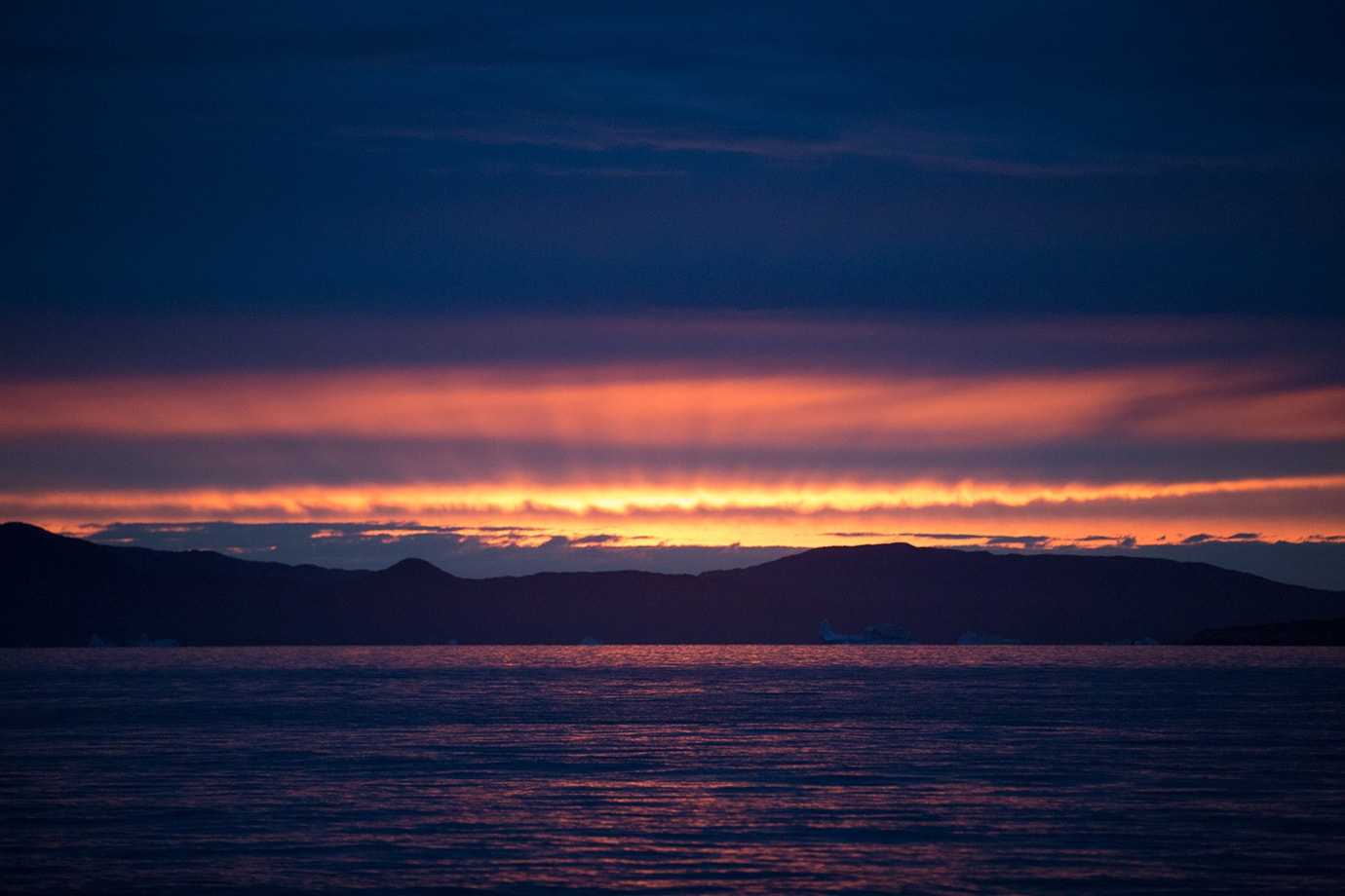 epic sunset uunartoq southern greenland
