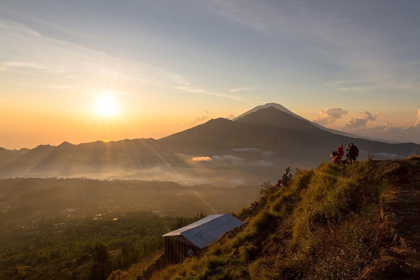 Hiking up Mount Batur for sunrise
